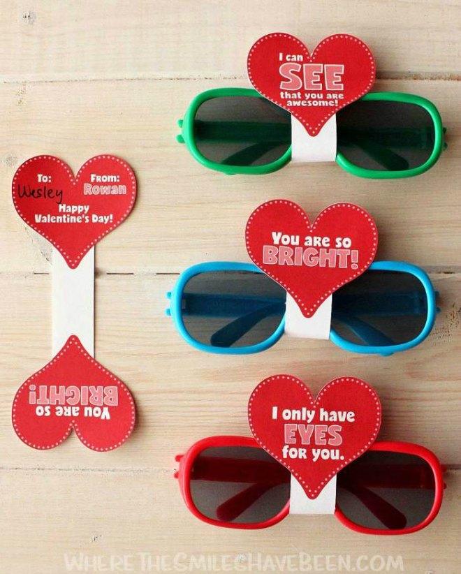 Sunglasses Valentines Printables