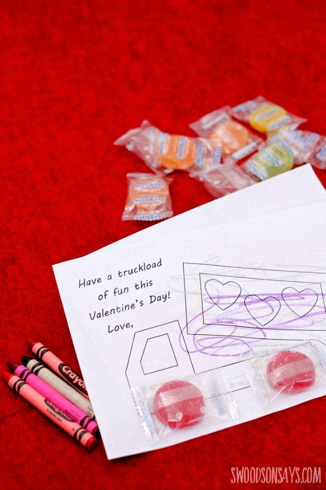 Free Valentine's Truck Printable