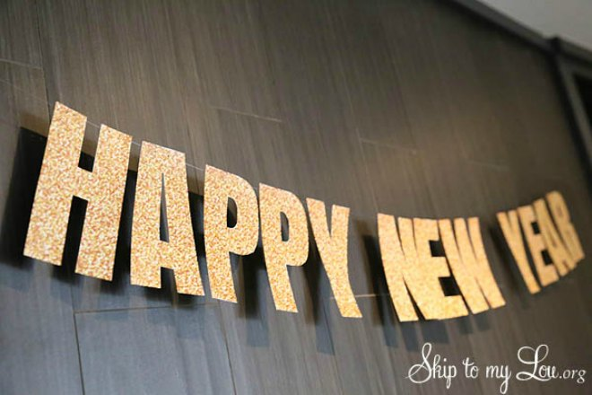 photograph regarding Happy New Years Banner Printable identify Ultimate Instant Home made Refreshing Yrs Eve Decorations Youll Appreciate
