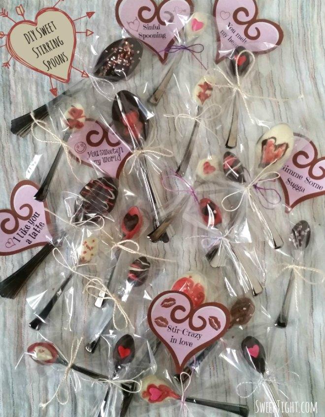 Chocolate spoon printable tag