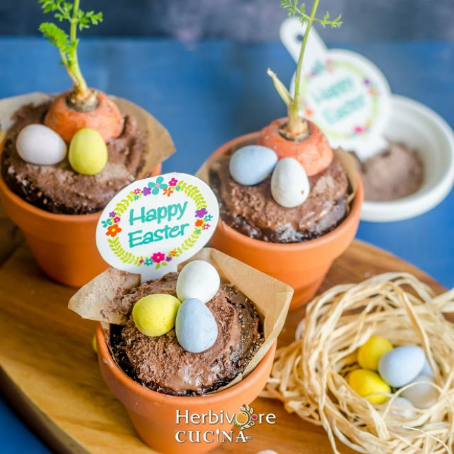 Easter chocolate carrot cupcakes