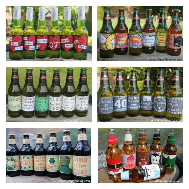 Easy printable beer labels
