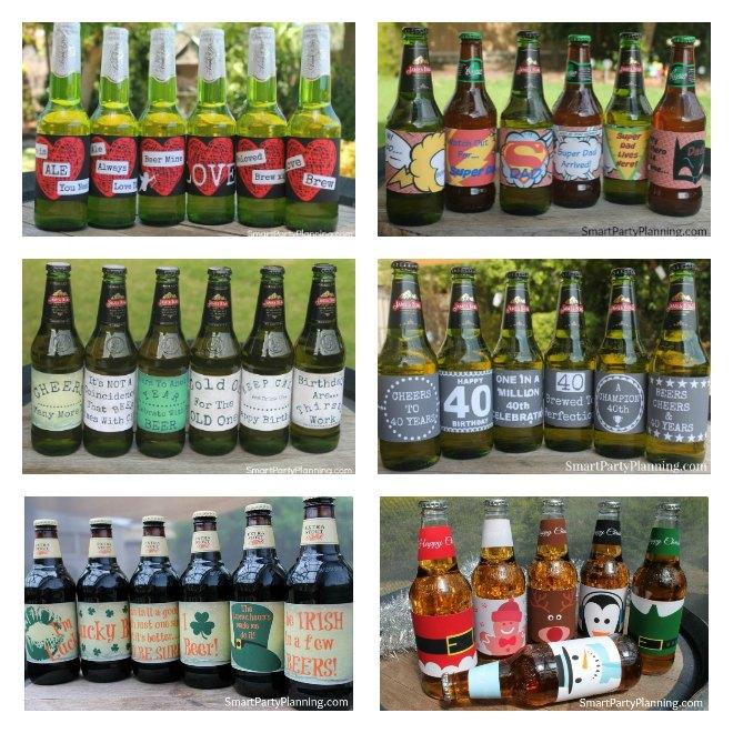 Easy printable beer labels