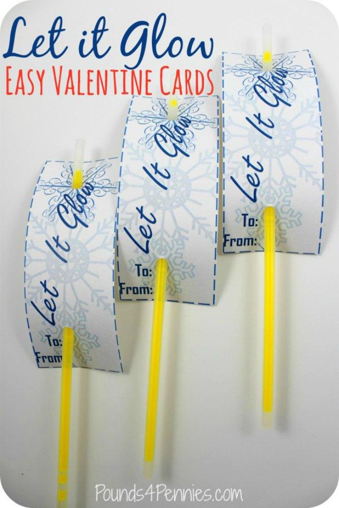 Let it glow Valentine Card