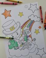 Leprechaun coloring pages