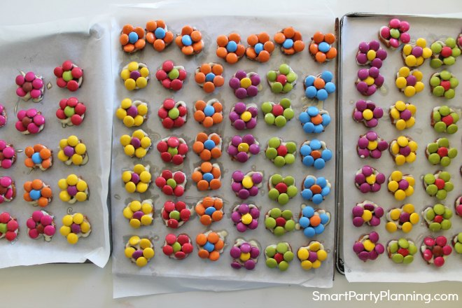 Tray of Pretzel flowers