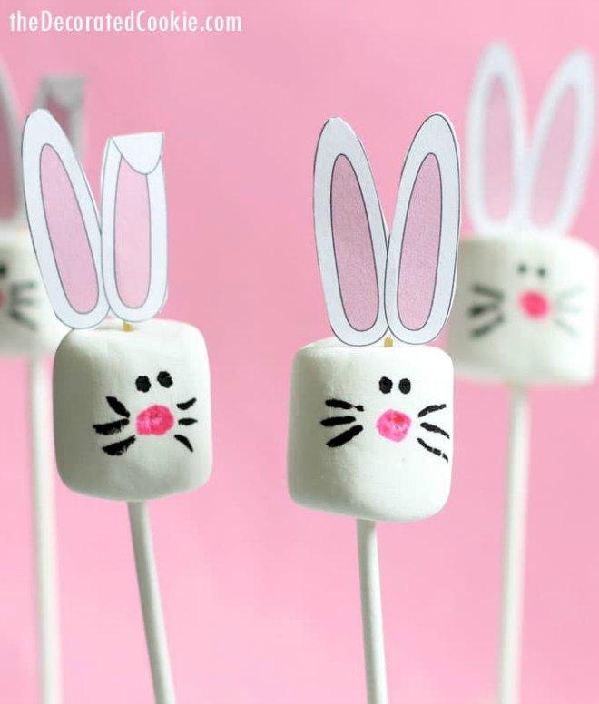 Easter bunny marshmallow pops