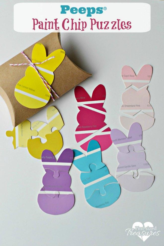 Paint chip peeps puzzles