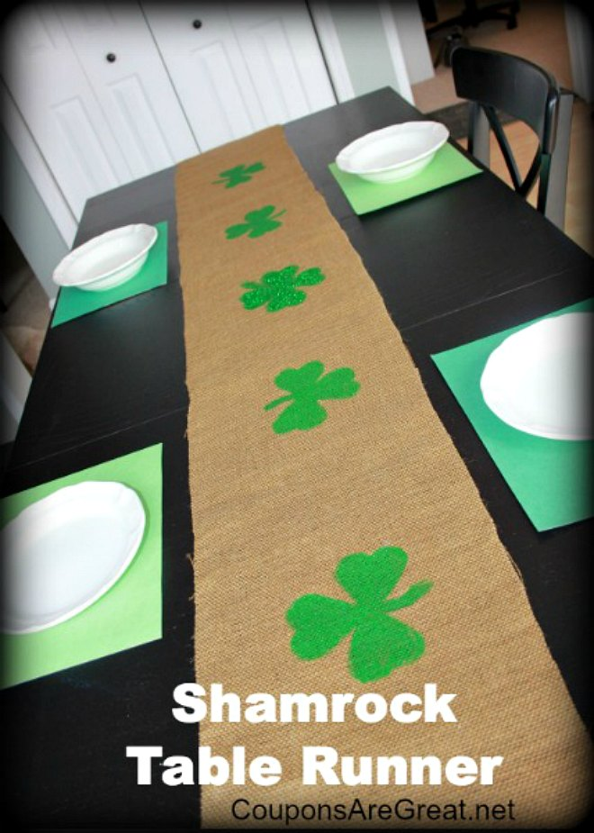 Shamrock table runner
