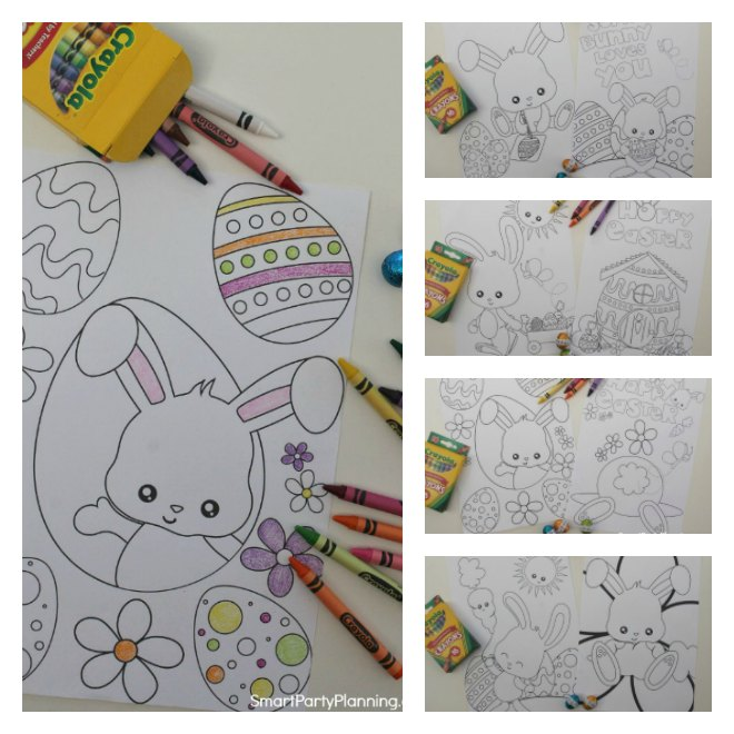 8 fun Easter bunny coloring pages