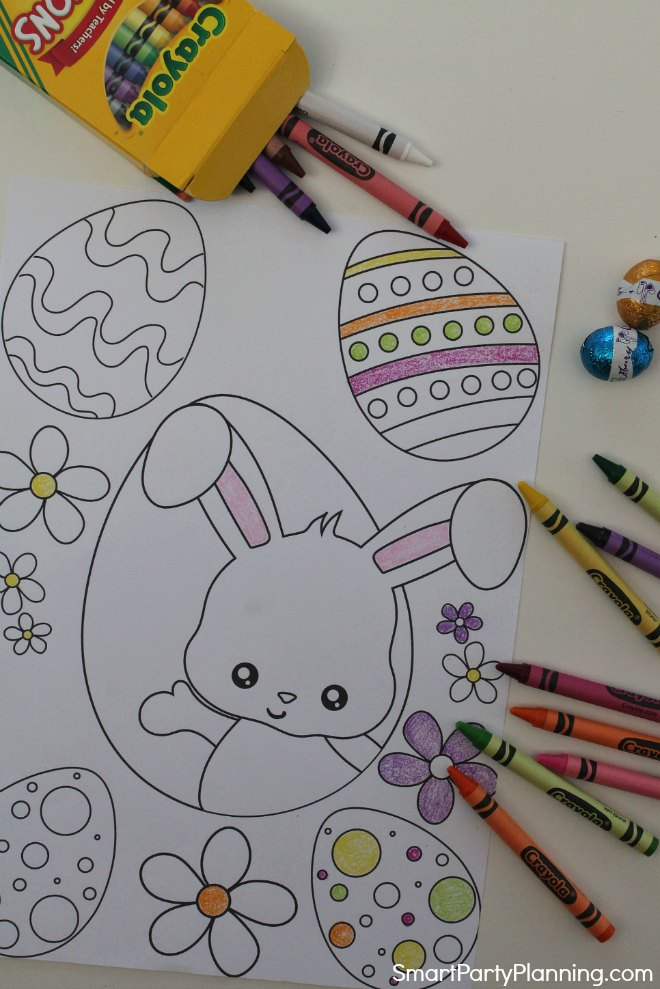 Easter Bunny Coloring Page