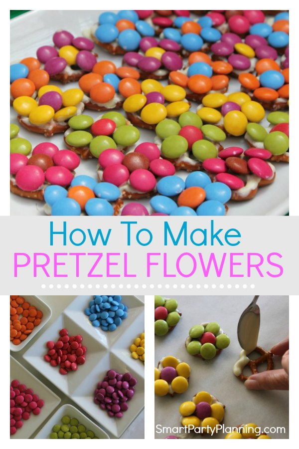 How to make simple pretzel flowers
