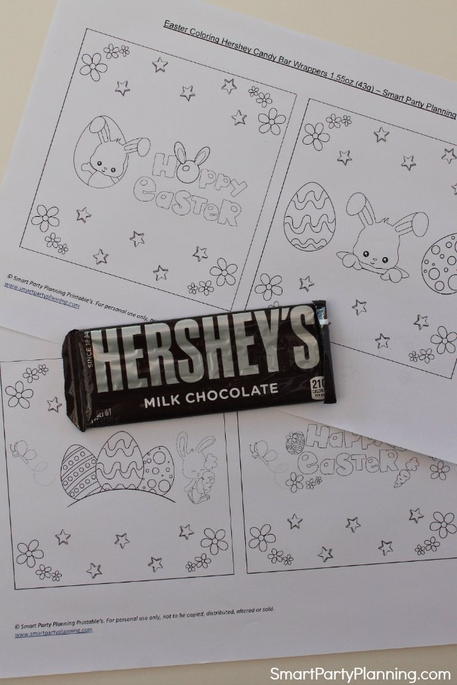 Print off the candy bar wrappers