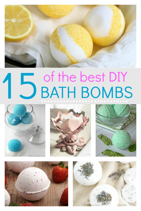 Learn how to make 15 of the best bath bombs that you can easily make at home. The beauty of DIY is that you can add essential oils, or fun kids accessories.  They are all lush in their own way and are also perfect as gift ideas.  Follow the tutorials to make these amazing recipes. #Bathbombs #DIY #EssentialOils #Handmade #Fun #Lush #Gift #Howtomake