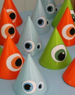 Free printable eyes for monster party hats