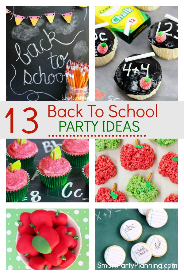 13 back to school party ideas that the kids will be absolutely thrilled with.  Filled with simple ideas for fun food and decorations to create a party to remember. These DIY party ideas will help the kids ease into the end of summer and back into school. #Backtoschoolparty #Ideas #Fun #Forkids #Summer #Holidays #School #Easy #Tutorial #Decorations #Food #Ideas