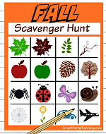 Fall Scavenger Hunt