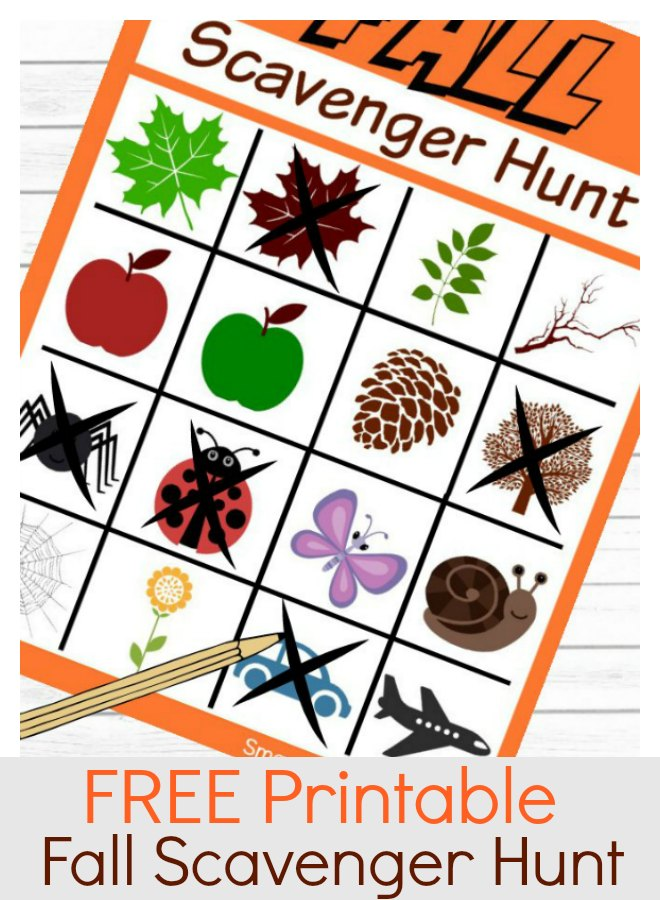 A free printable instant download Fall scavenger hunt for kids. Use the scavenger hunt ideas to create a fun time exploring the outdoors with the little ones. Spending time in nature is refreshing, fun and a great way to use up that energy!