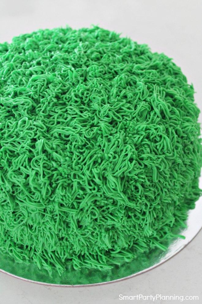 Monster cake covered in green fur