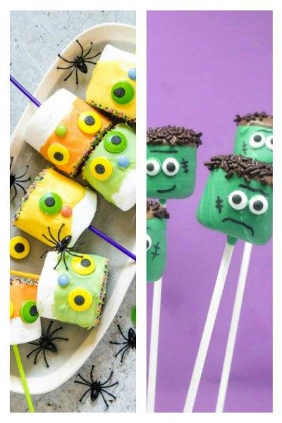 8 Halloween Marshmallow Pops