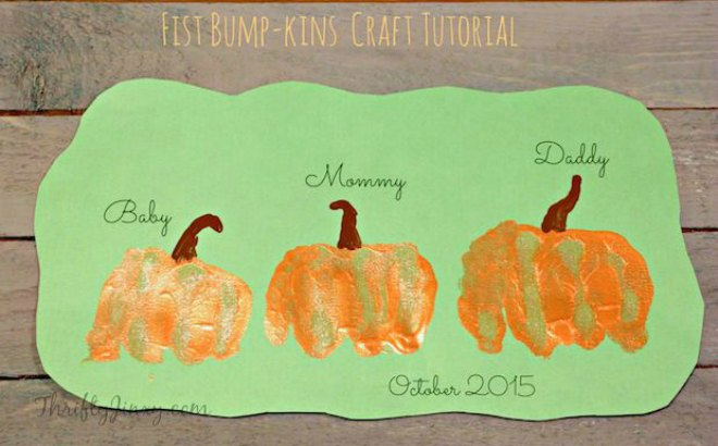 Pumpkin Fist Bump Craft