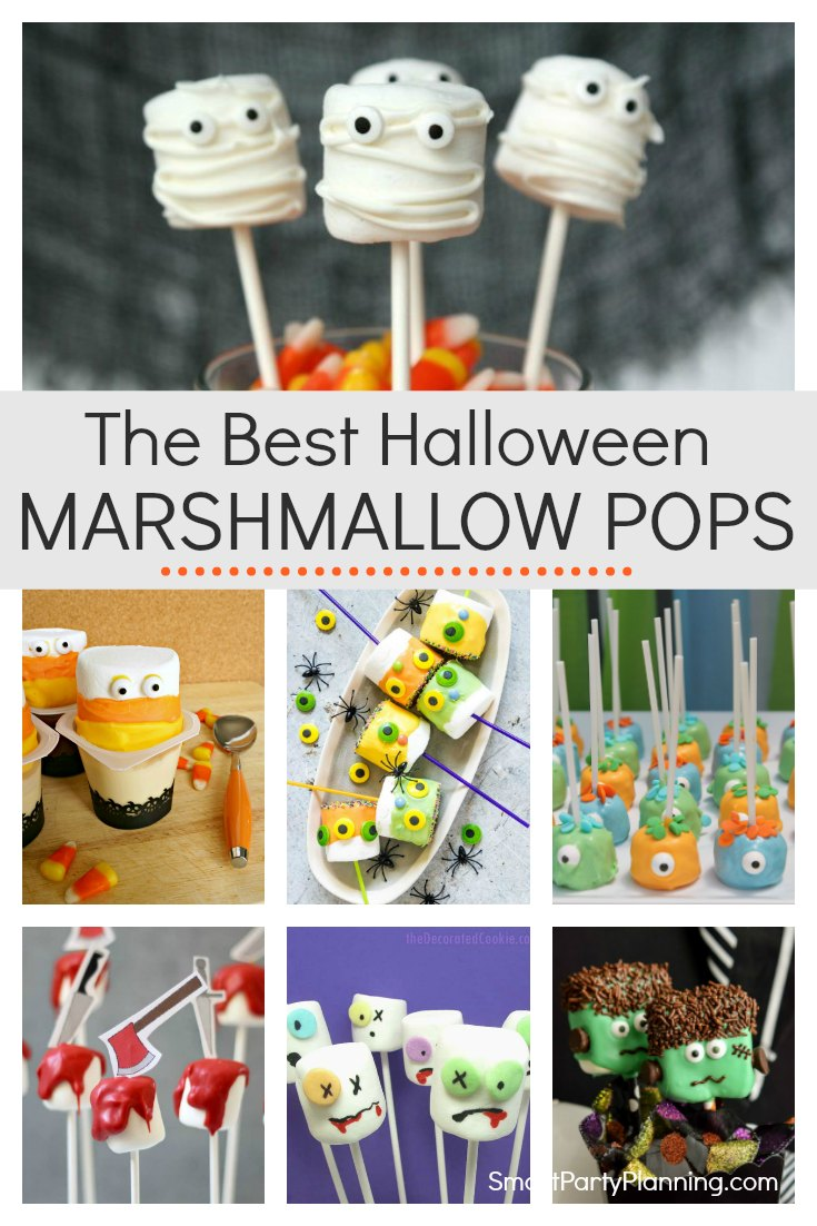 Learn how to make 8 of the best easy and fun Halloween marshmallow pops. Simple chocolate dipped marshmallows with a mixture of sprinkles and other candy attached. These are going to become the kids favorite Halloween treats. #Halloween #Marshmallowpops #Halloweentreats #Kids #Easy #Simple #Fun