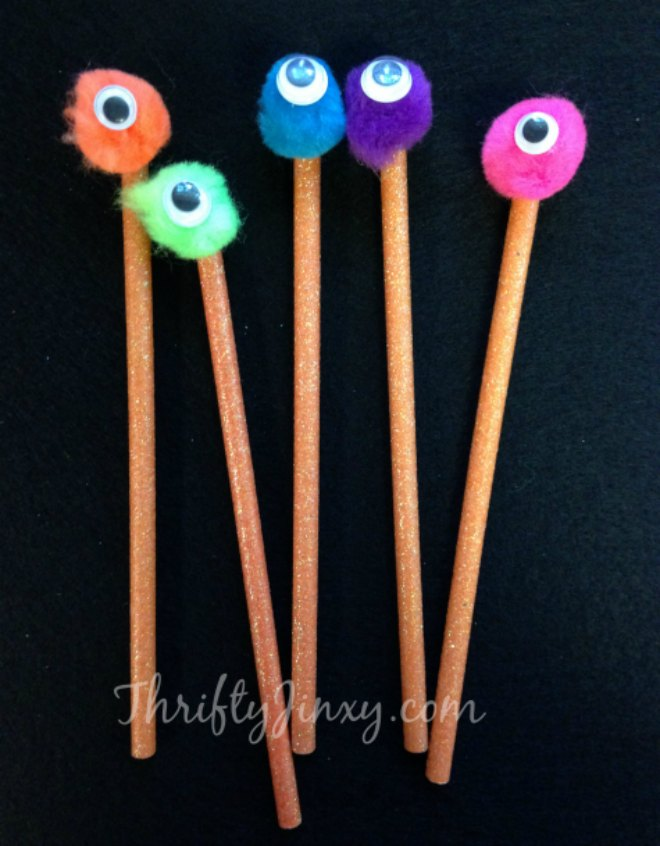 DIY-Spooky-Monster-Pencils-Craft-with-Googly-Eyes