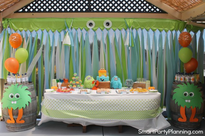 Monster Birthday Party Table