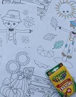 Set of 4 Fall Coloring Sheets 150 x 190