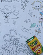 Set of 4 Fall Coloring Sheets 150 x 190