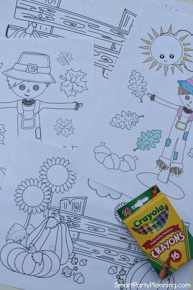 Set of 4 Fall Coloring Sheets