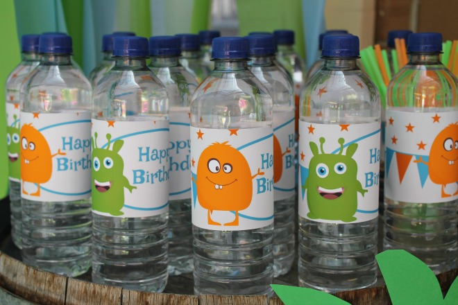 Water bottles with monsters