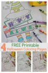 4 Free Printable Halloween Coloring Pages