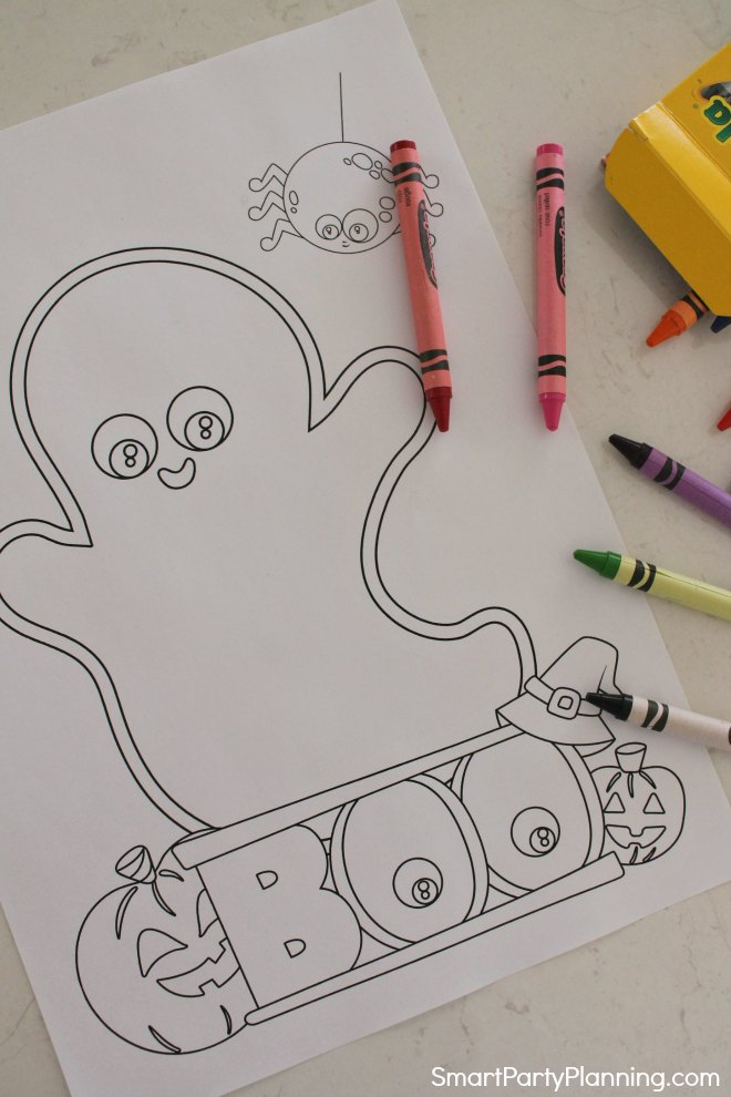 Ghost Halloween Coloring Page