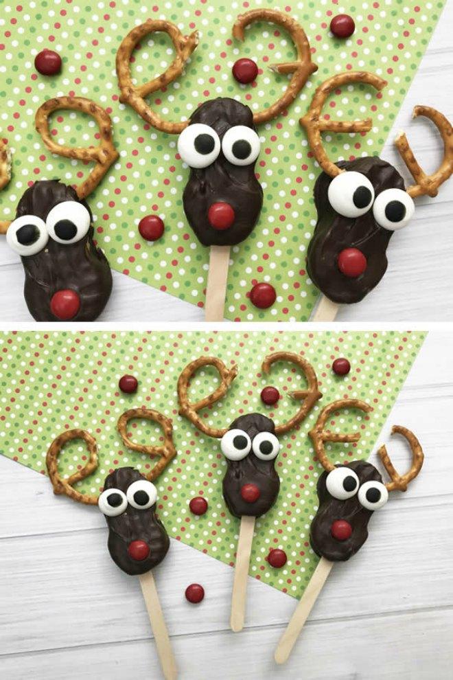 Nutty butter reindeer cookies