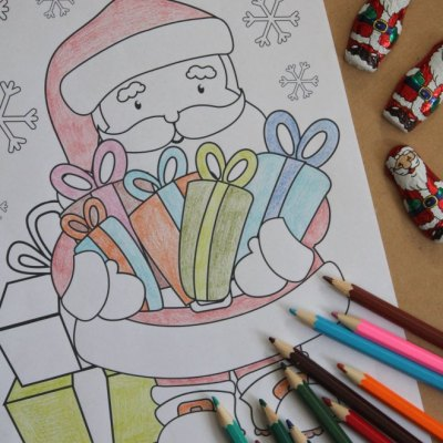 The Best Free Santa Coloring Sheets That The Kids Will Love