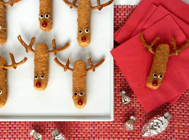 mozzarella reindeer sticks
