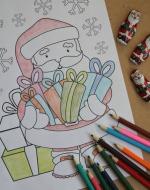 Santa coloring sheet 150x190