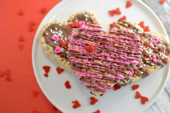 Valentine rice krispie treat