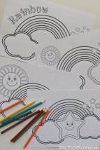 4 Rainbow Coloring Sheets