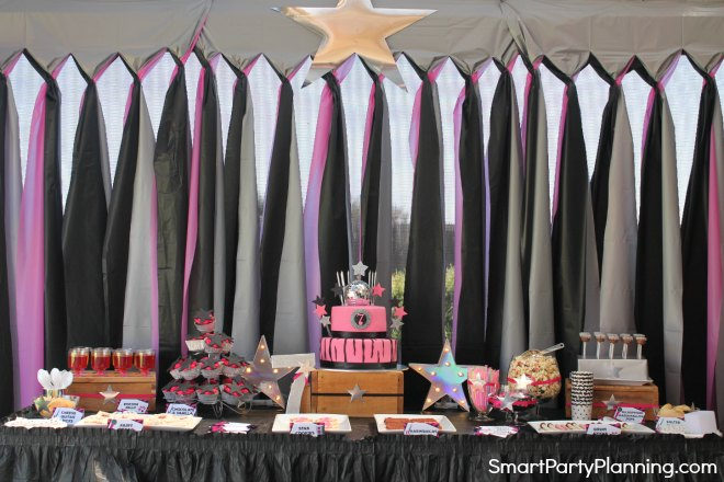 Rock Star Party Table