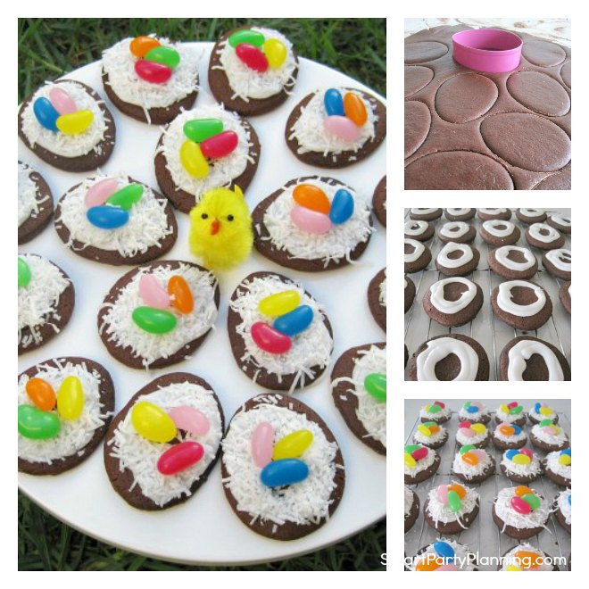 Chocolate Birds Nest Cookies