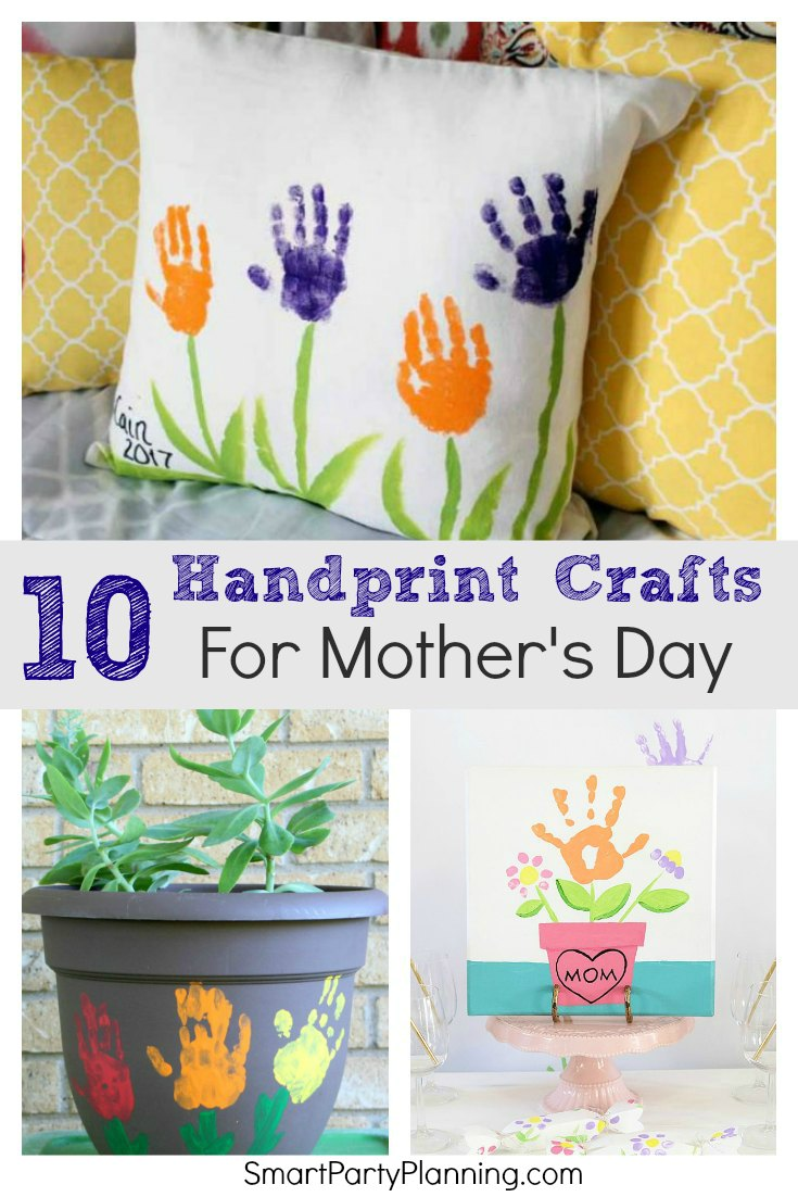 Easy Handprint Crafts For Mother's Day