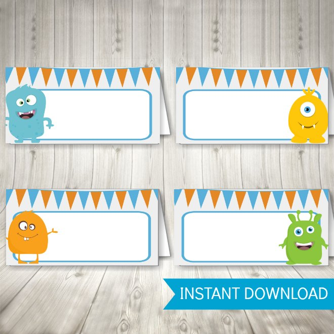 Monster Party Printables - Food Tent Labels
