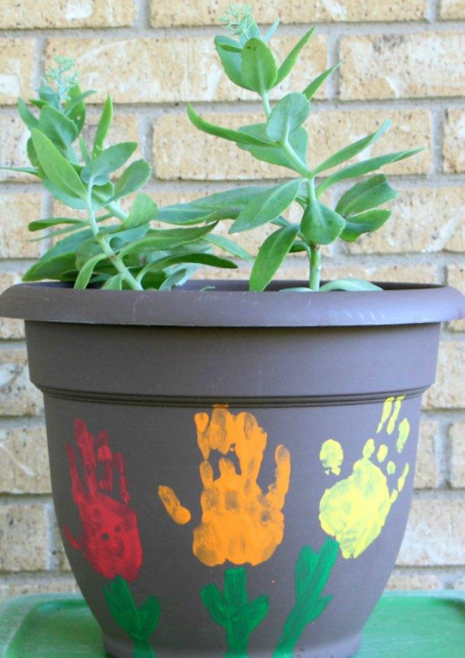 flowerpot handprint craft