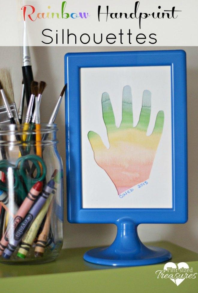 rainbow handprint silhoutte