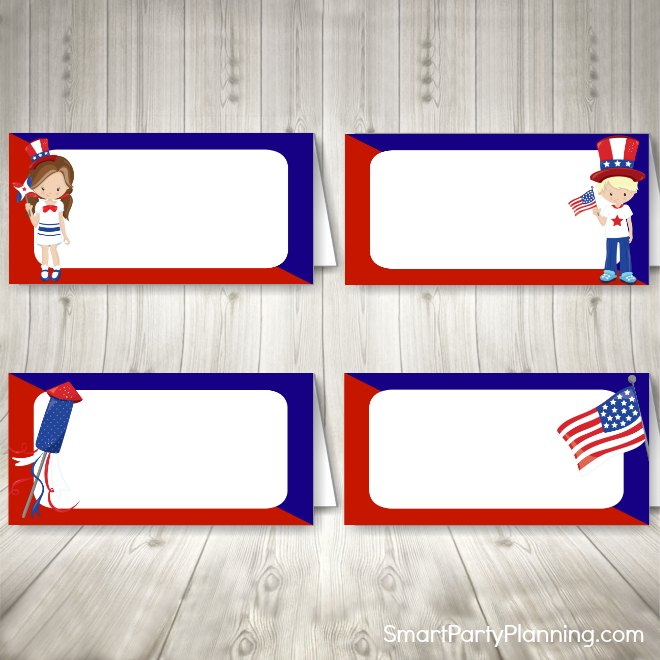 4th July Food Labels