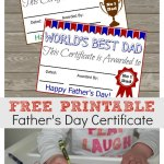 Free Printable Fathers Day Certificate