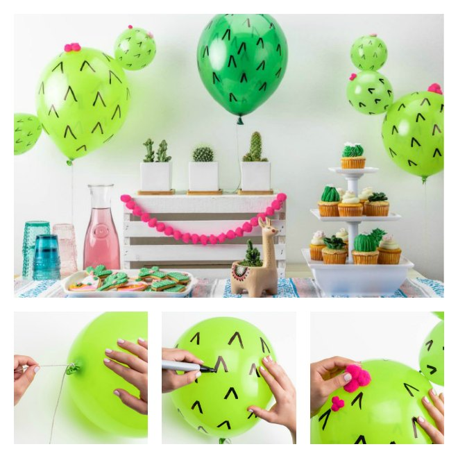 How to make easy cactus balloons