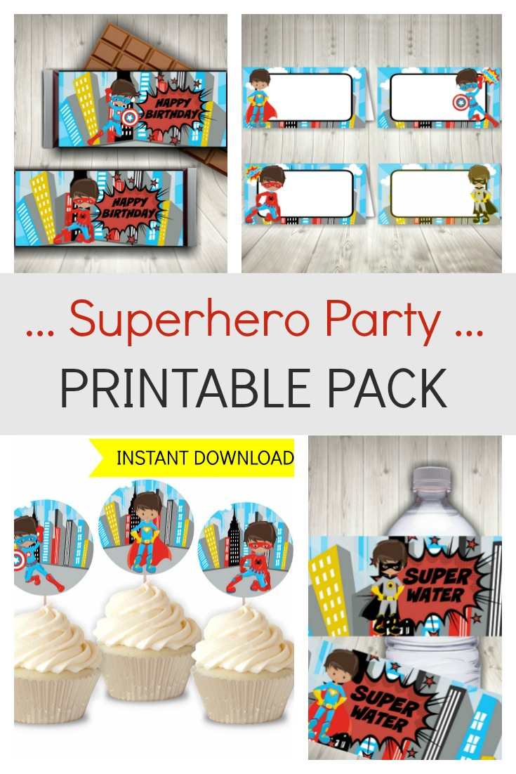 Superhero Party Printables Pack